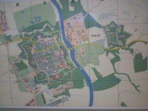 Mapa pevnostního města Terezín